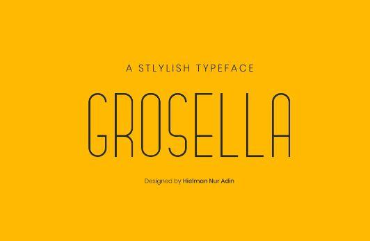 Grosella Typeface