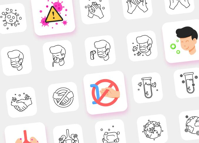 Icons for COVID-19 Messaging