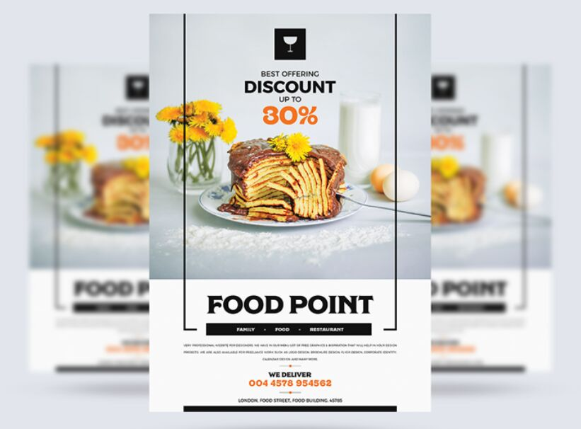 Modern Food Flyer Design Template