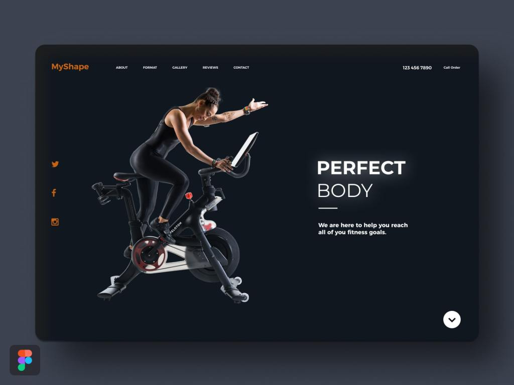 MyShape Fitness Goals Website