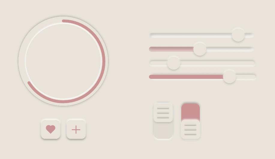 Neumorphism UI Icon Design