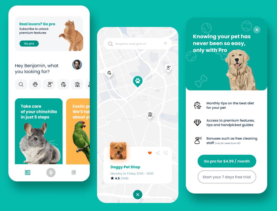 Pet Mobile App Design