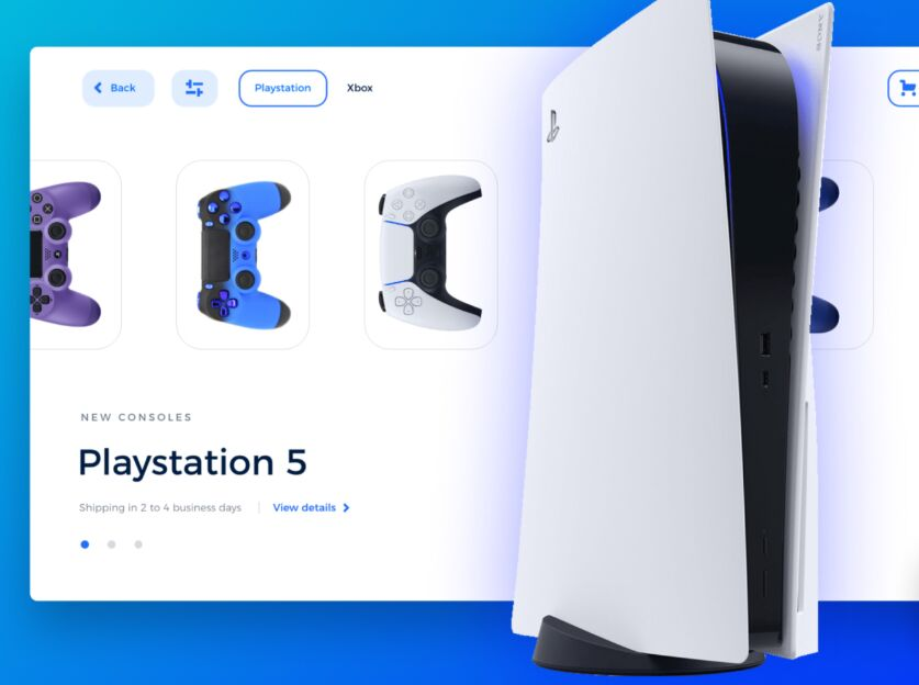 Playstation 5 Landing Page Design