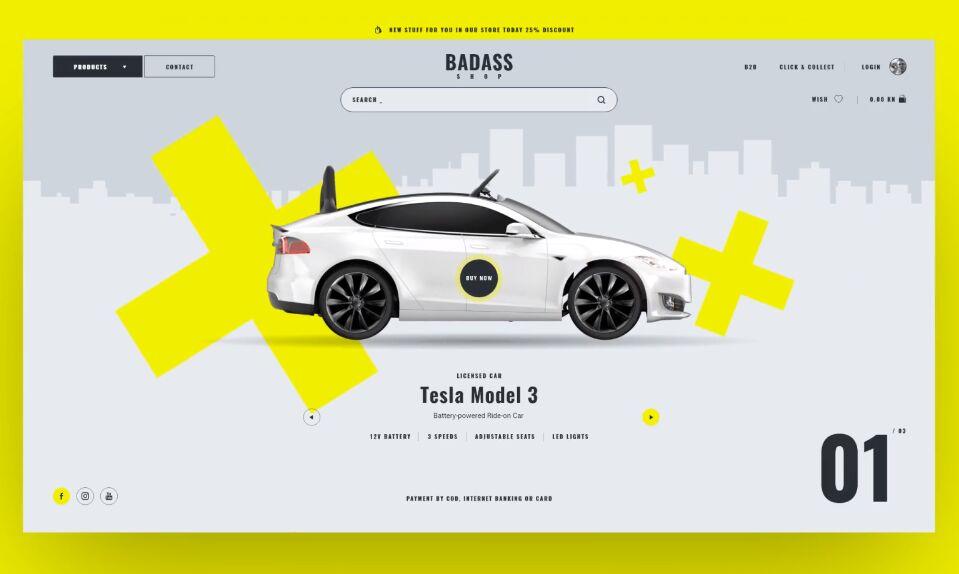 Badass Shop Template For Sketch