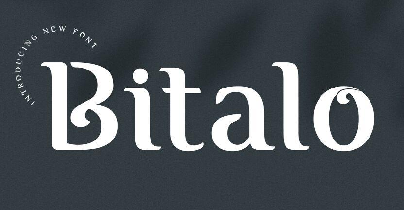 Bitalo Display Font