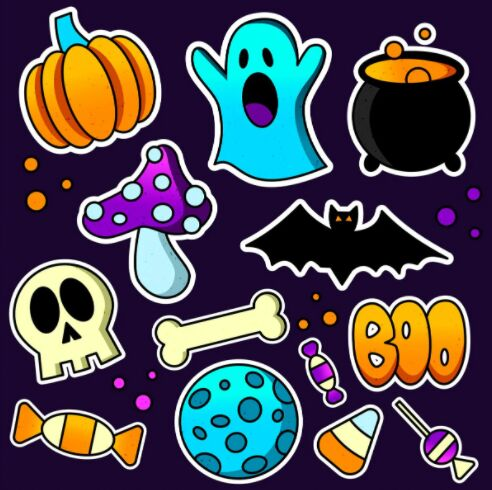 Free Halloween Stickers