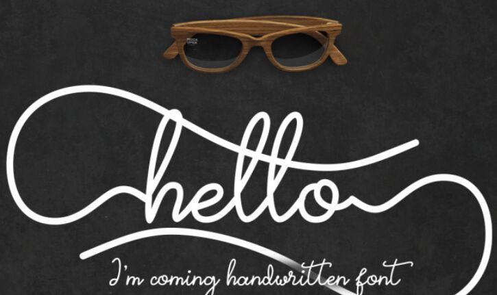 Hello I'm Coming FREE Font