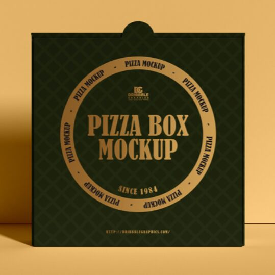 Modern Packaging Pizza Box Mockup