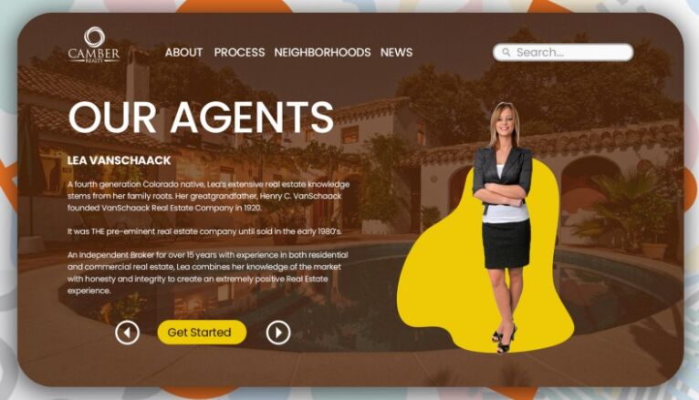 Real Estate Agents Landing Page
