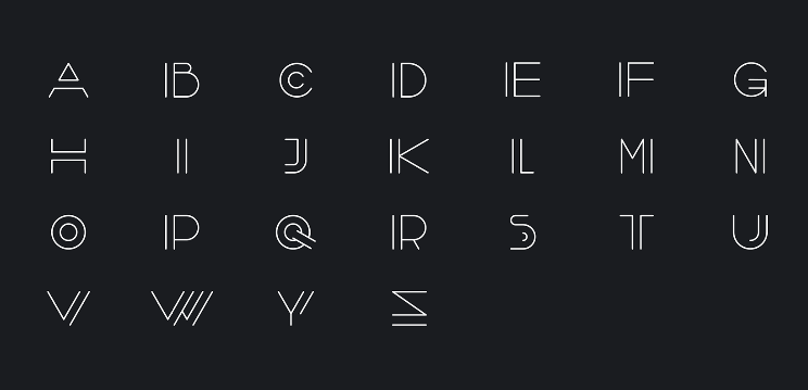 Free Font Vector Line