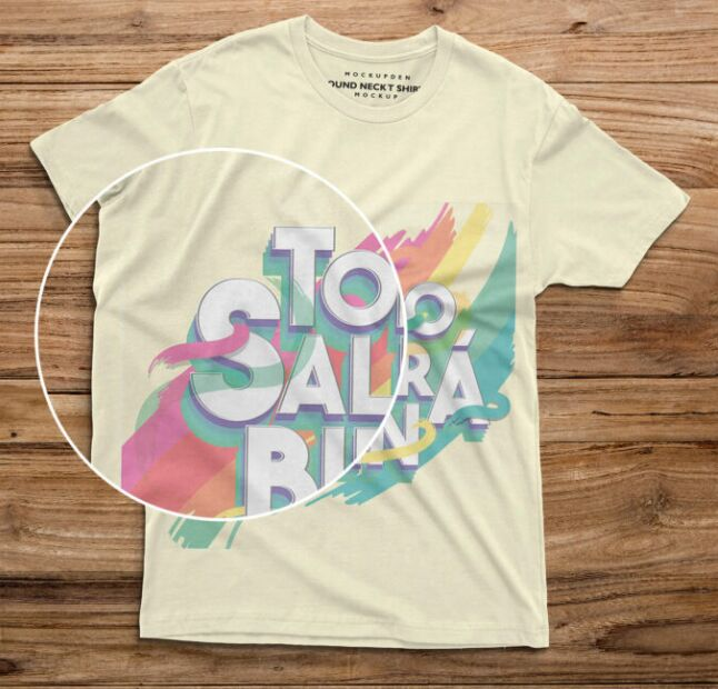 Free Round Neck T-Shirt Mockup PSD Template