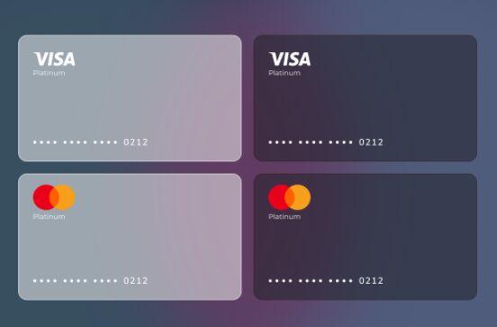 Glassmorphism VisaMaster Card Figma