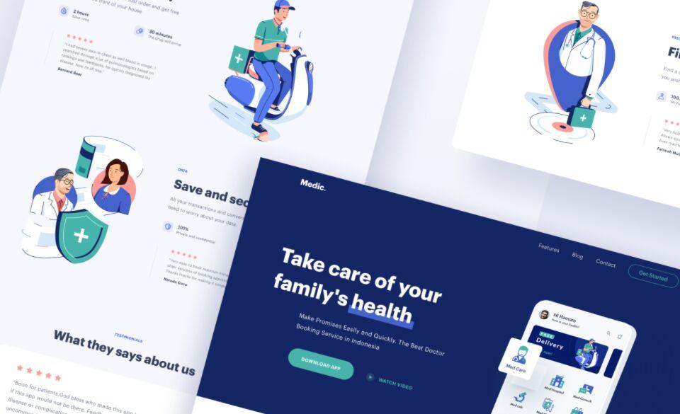 Medical App Design Sketch