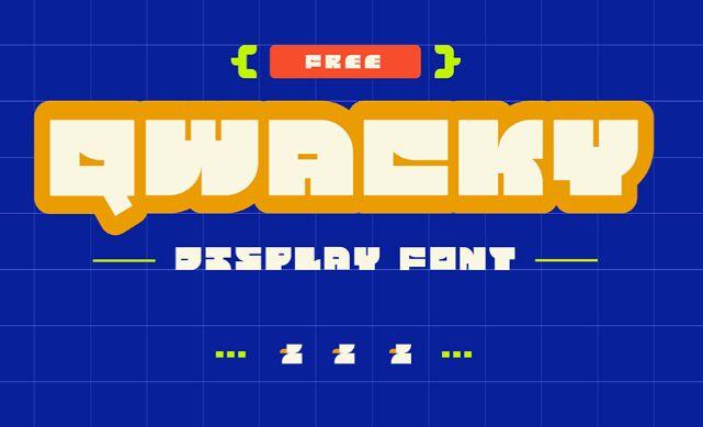 Qwacky Free Display Font