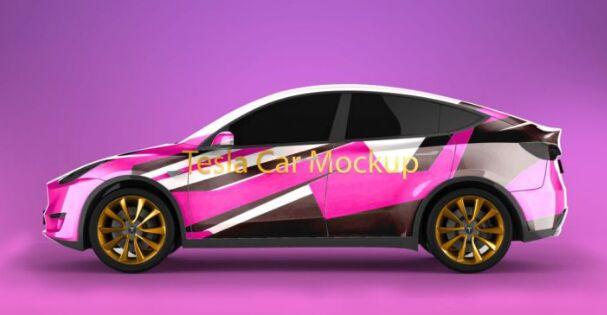 Tesla Model Y Mockup PSD