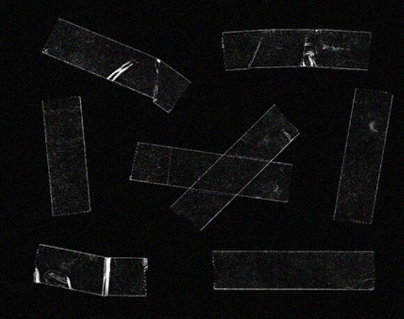 Transparent Tape Pieces