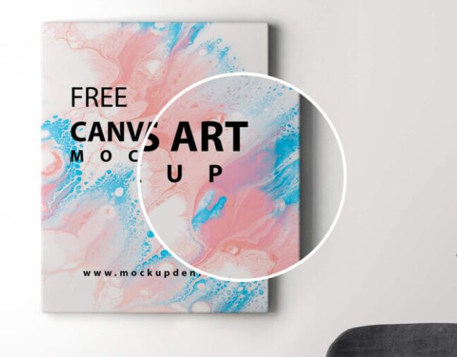 Free Canvas Art Mockup