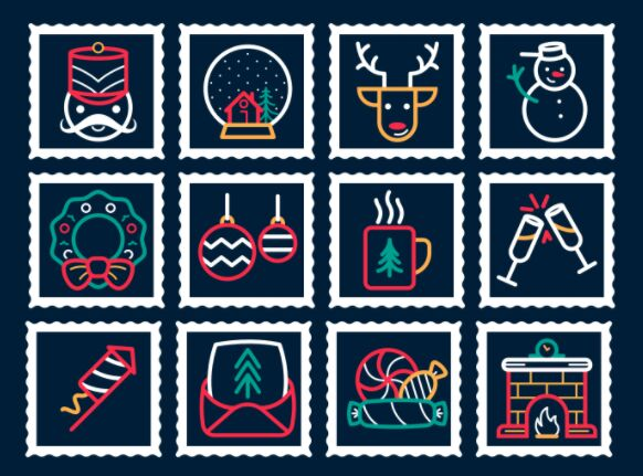 Free Christmas New Year Icons