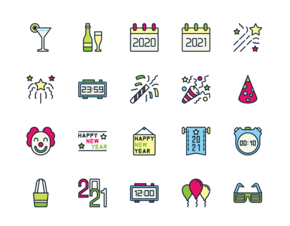 Free Happy New Year Icons