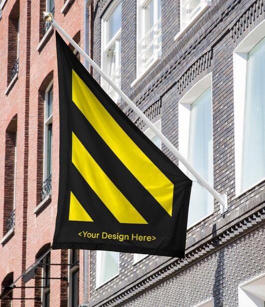 Free Store Flag Mockup
