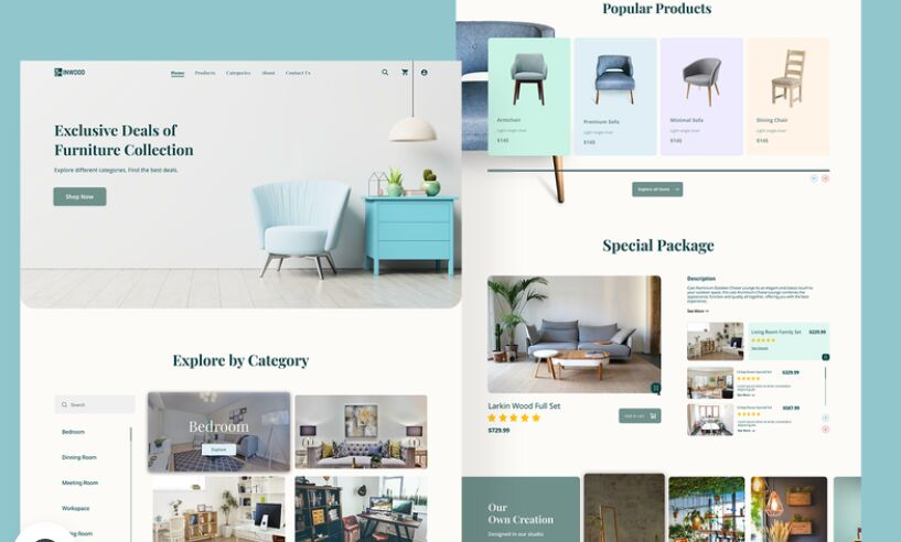 INWOOD Furniture eCommerce Website Template