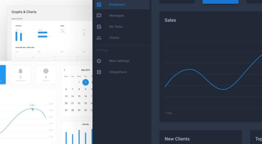 Material Design Dashboard UI Figma
