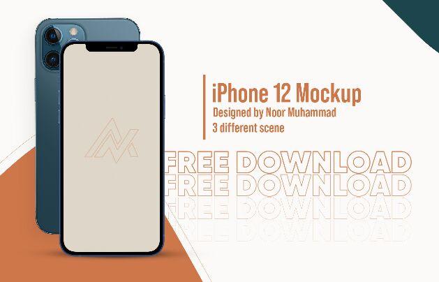 iPhone 12 Mockup App Presentation Mockup