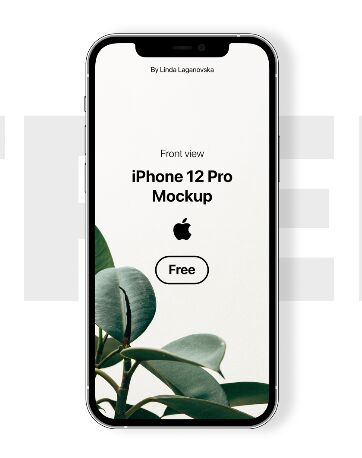 iPhone 12 Pro Front View Mockup