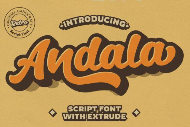 Andala Retro Font