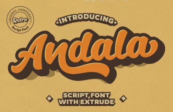 Free Retro Fonts Andala