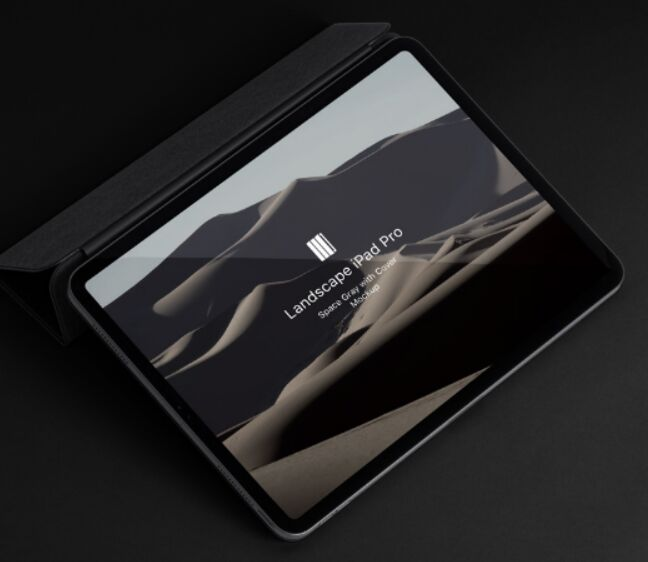 Landscape Cover Psd iPad Pro Mockup