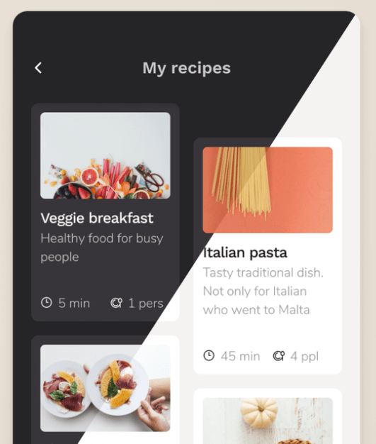 Mobile Cooking App Figma