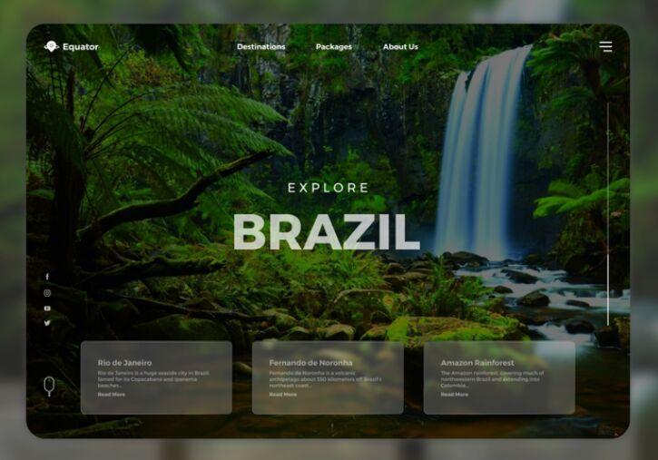 Travel Website Figma Template