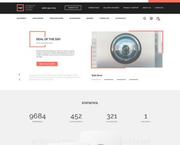 e-shop Web Template Figma