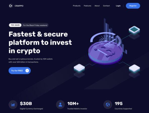 CRAPPO Cryptocurrency Website Freebie