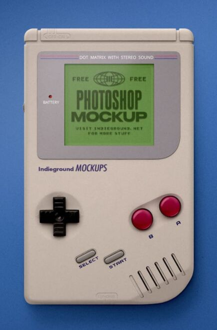 Free Game Boy Mockup