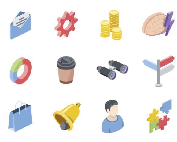 Free Isometric Icons Set