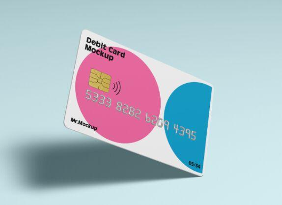 Realistic Debit Card Mockup