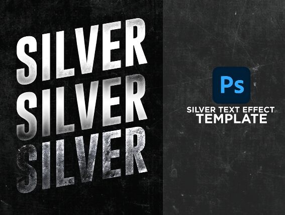 Silver Text Effect Template