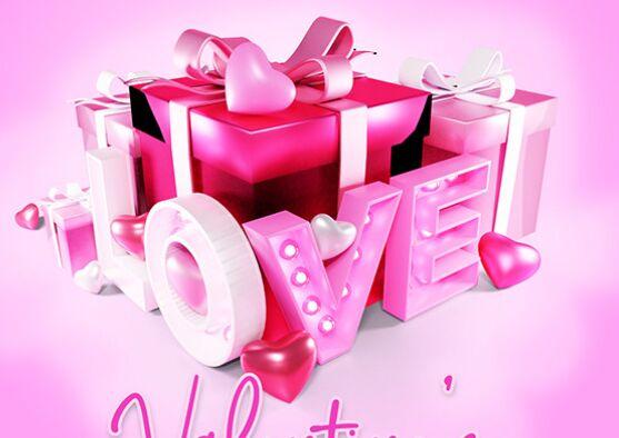 Valentines 3D Love Text PSD