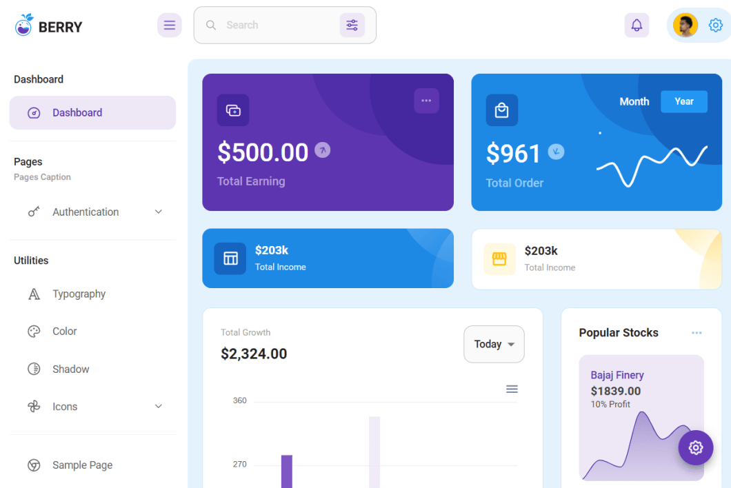Berry Free React Material Admin Template