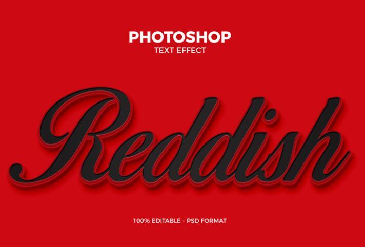 Free Reddish Photoshop Text Effect