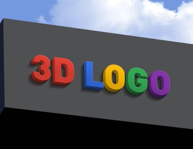 Free Shop Facade 3D Logo Mockup PSD