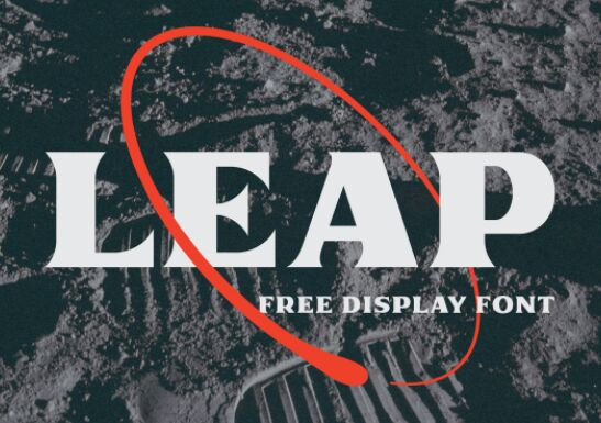 Leap Free Display Font