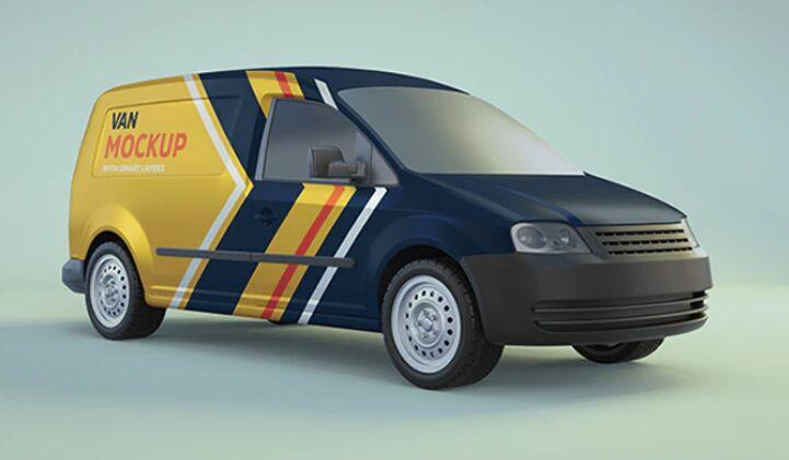 Minivan PSD Mockup