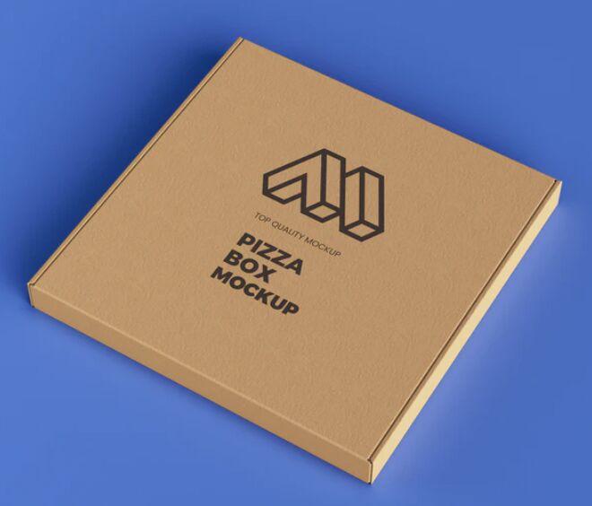 Pizza Box PSD Mockup