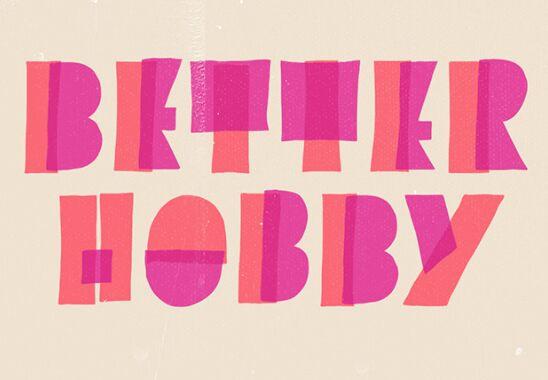 Better Hobby Display Font