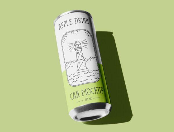Free Juice Can PSD Mockup