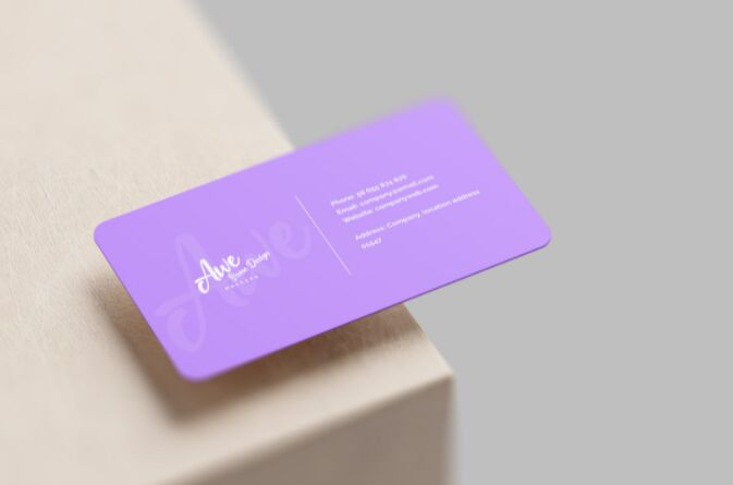 Free Photo Realistic Business Card Mockup