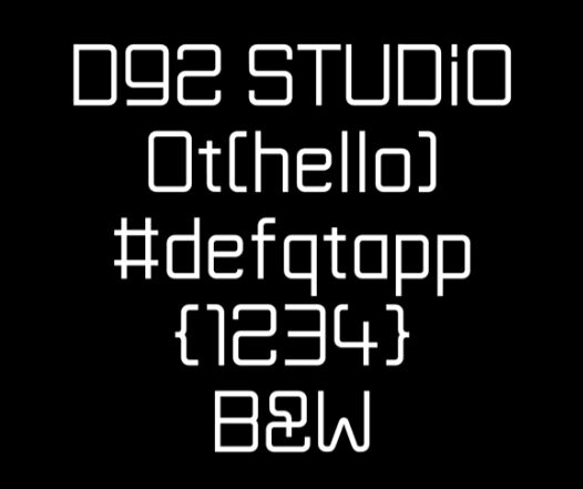 WMM Technical Headline Typeface